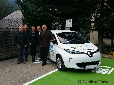 E-Carsharing PKW der Family of Power